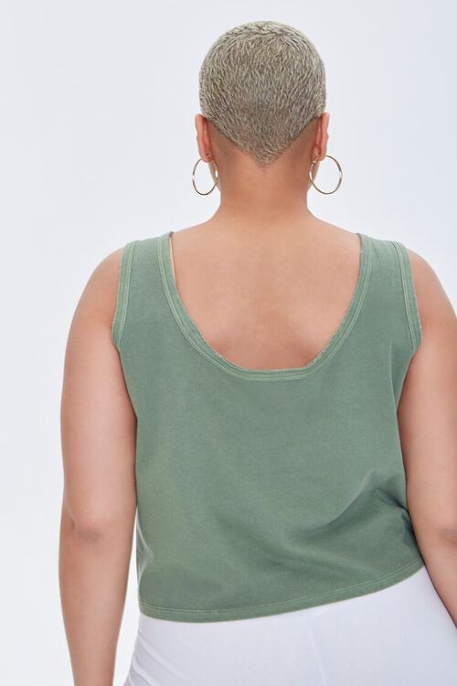 Plus Size Mineral Wash Tank Top, image 3