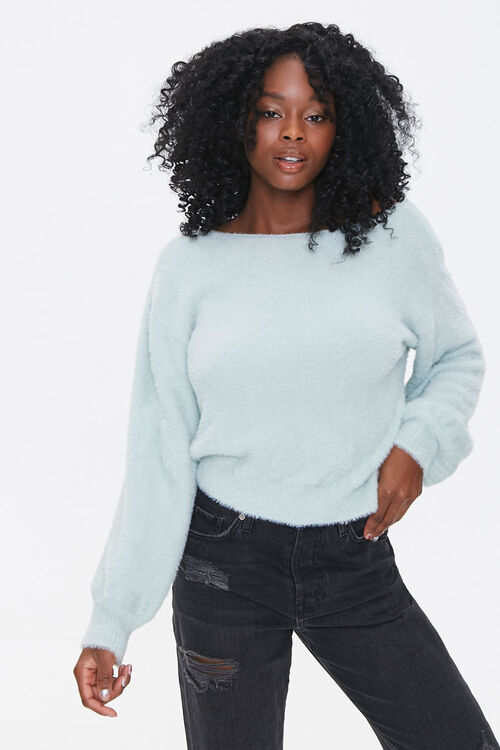 Plush Twist-Back Sweater, image 2