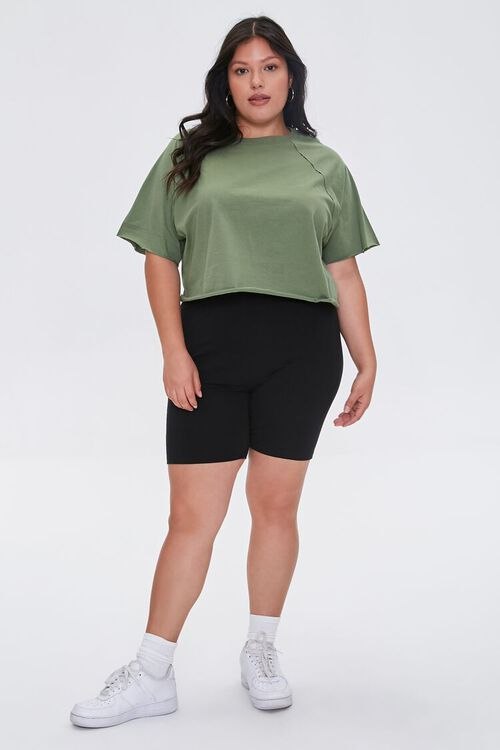 OLIVE Plus Size Cropped Tee, image 4