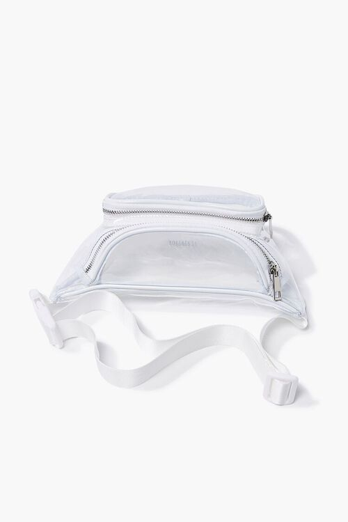 WHITE/CLEAR Transparent Fanny Pack, image 3