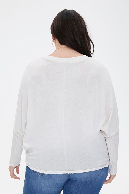 Plus Size Ribbed Dolman-Sleeve Top, image 3
