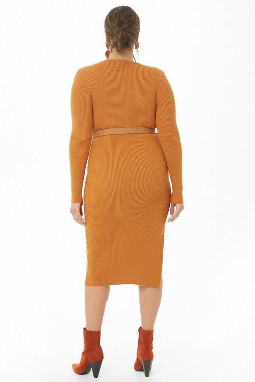 Plus Size Belted Midi Dress, image 3