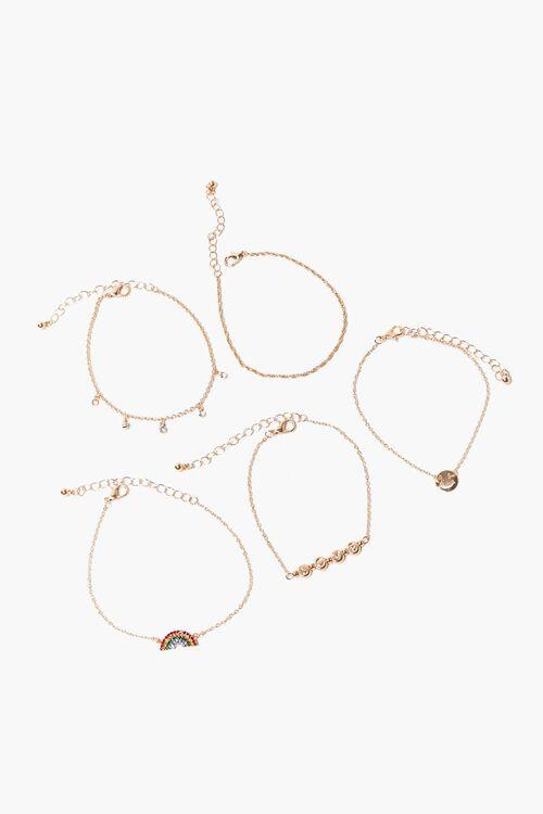 Rainbow Charm Bracelet Set, image 2