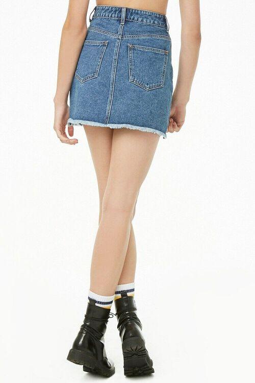 Step Hem Denim Mini Skirt, image 4