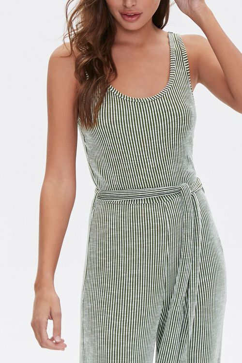 Ribbed Pinstriped Jumpsuit, image 2