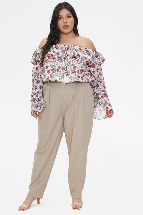 Plus Size Floral Bell-Sleeve Top, image 4