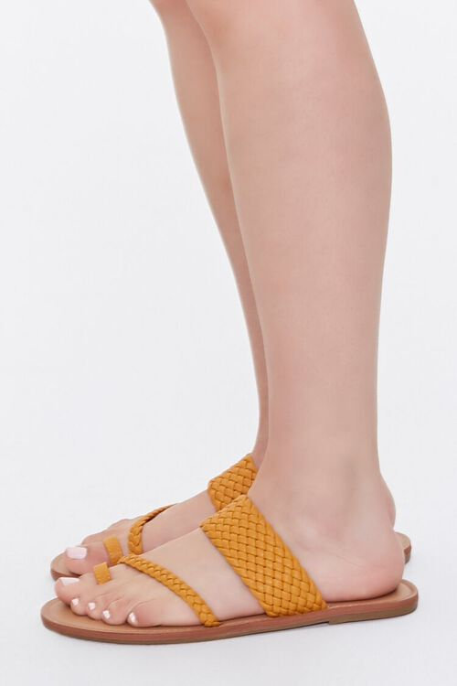 Braided Toe-Ring Flat Sandals, image 2