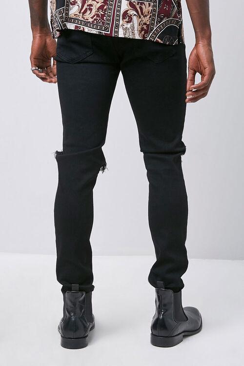 Rhinestone Distressed Slim-Fit Jeans, image 3