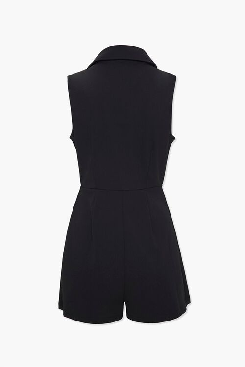 Double-Breasted Collared Romper, image 3