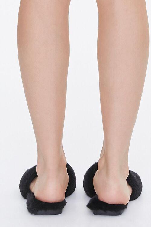 Faux Fur Open-Toe Slippers, image 3
