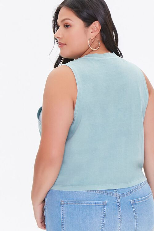 Plus Size Paradise Beach Muscle Tee, image 3