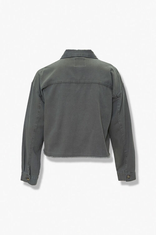 Plus Size Frayed-Trim Jacket, image 3