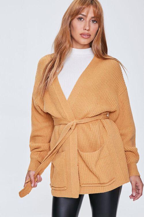 Patch-Pocket Cardigan Sweater, image 1