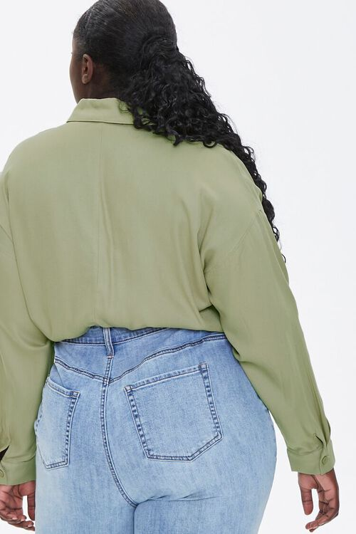 Plus Size Drawstring-Hem Shirt, image 3