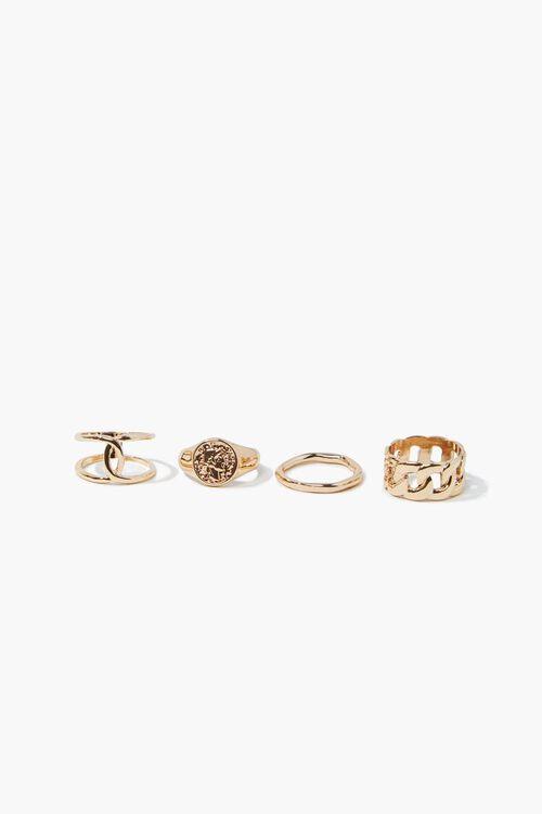High-Polish Cutout Ring Set, image 1