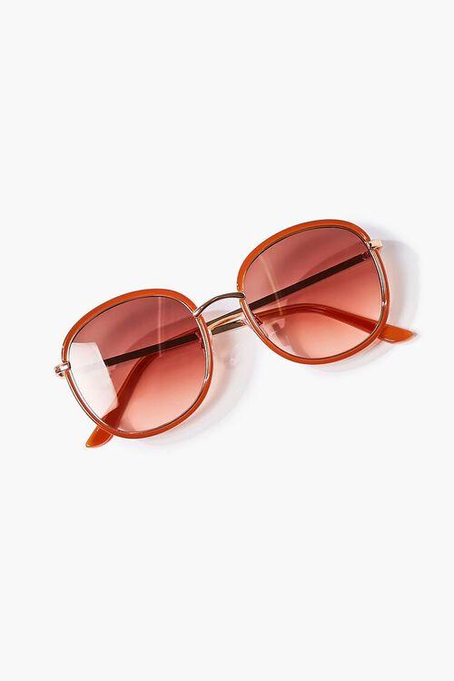 RUST/RUST Oval Metal Sunglasses, image 1