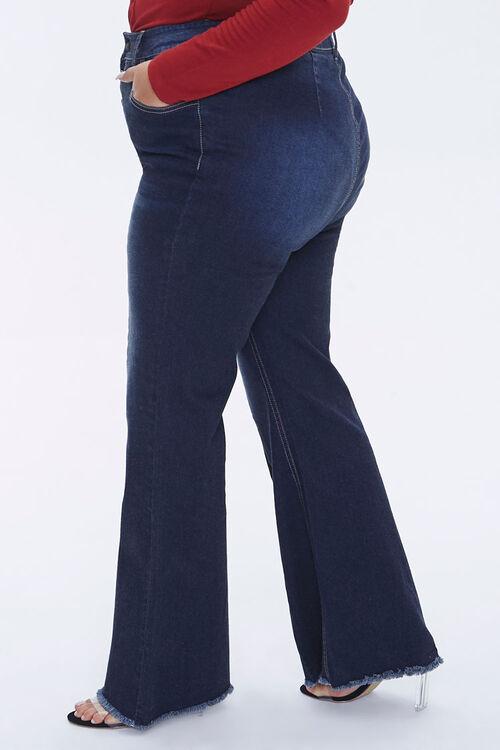 Plus Size Frayed Flare Jeans, image 3