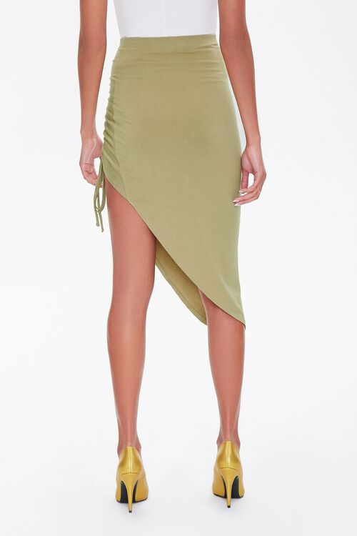 Ruched High-Low Skirt, image 4