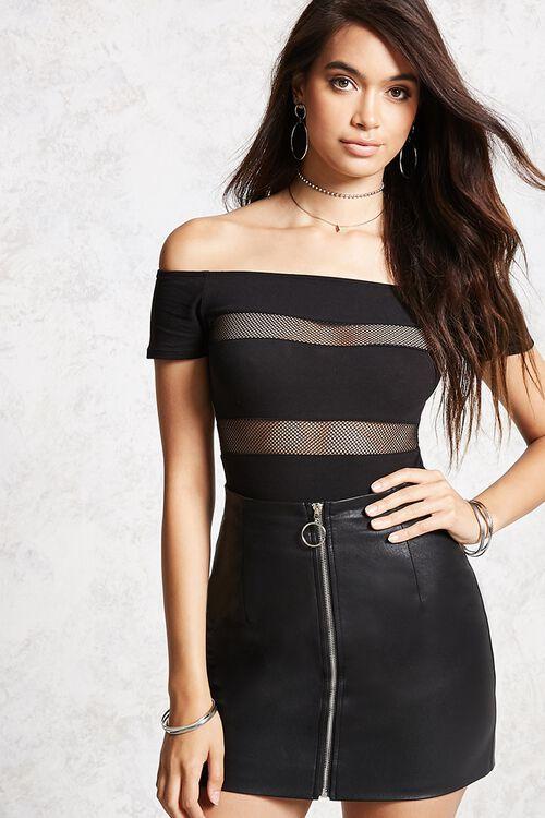 Shadow-Stripe Bodysuit, image 1