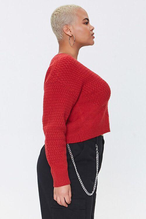 Plus Size Textured Cardigan Sweater, image 2