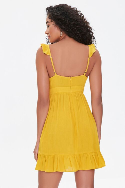 Flounce-Trim Mini Dress, image 3