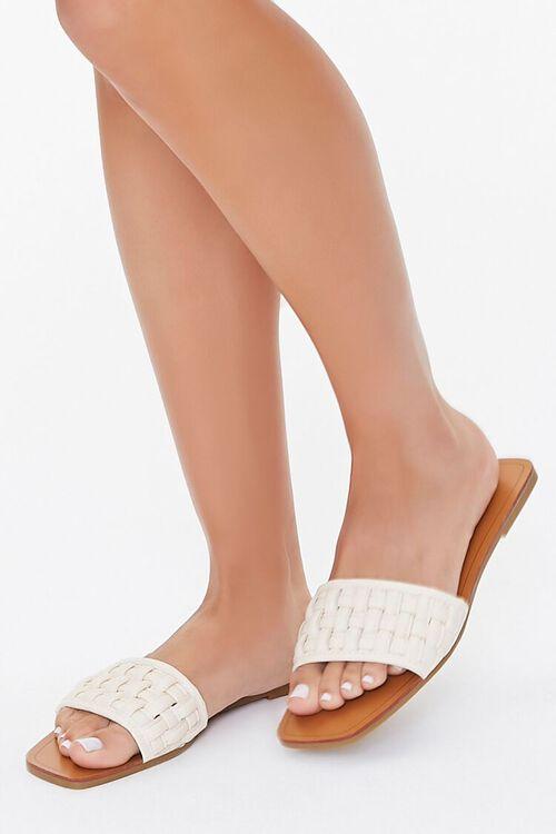 Crosshatch Square-Toe Flat Sandals, image 5