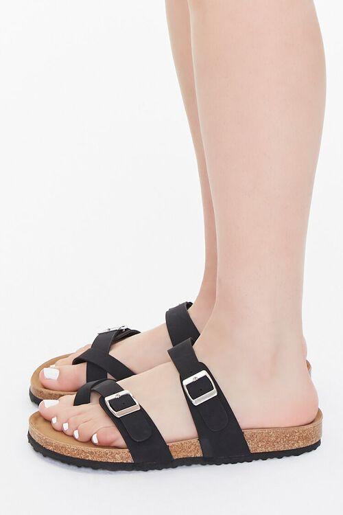 Faux Suede & Cork Flatform Sandals, image 2