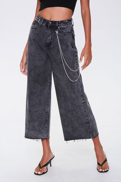 Wide-Leg Ankle Jeans, image 2