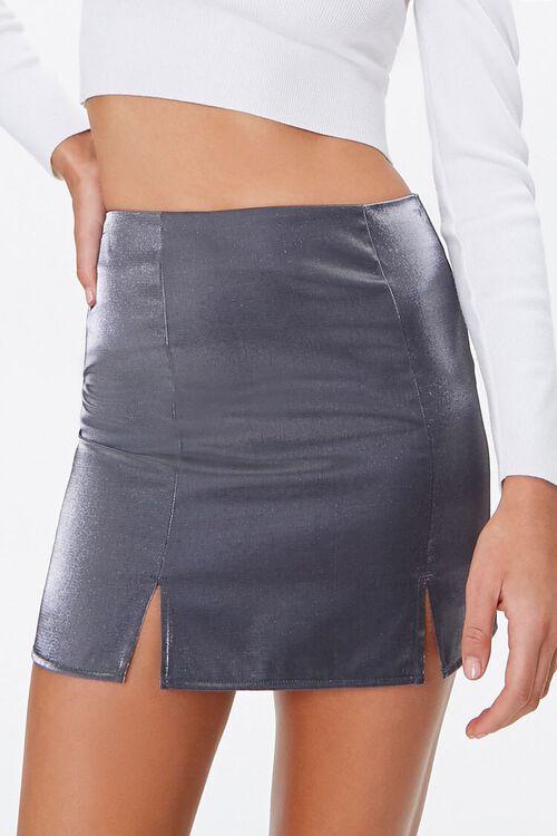 Metallic M-Slit Mini Skirt, image 2