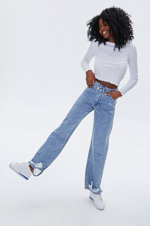 Crisscross High-Rise Straight Jeans, image 1