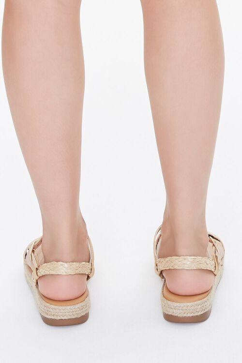 Braided-Strap Espadrille Flatform Sandals, image 3