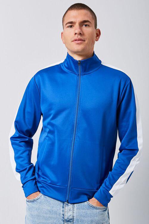 Striped-Trim Zip-Up Jacket, image 1