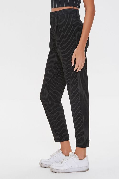 BLACK/WHITE Pinstriped Ankle Pants, image 3