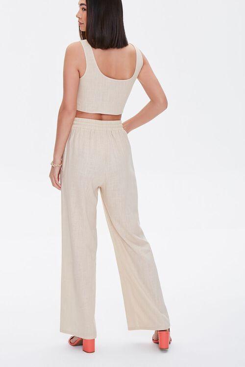 Linen-Blend Crop Top & Pants Set, image 3