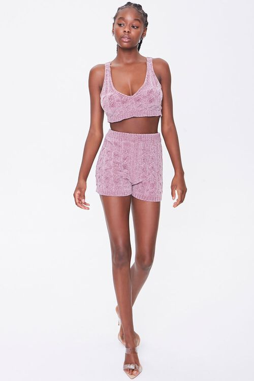 Sweater-Knit Chenille Shorts, image 5