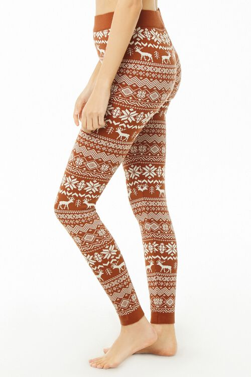 Nordic Pattern Knit Leggings, image 2