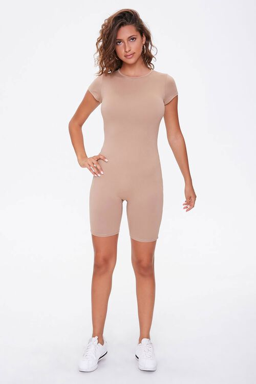 Fitted Short-Sleeve Romper, image 4