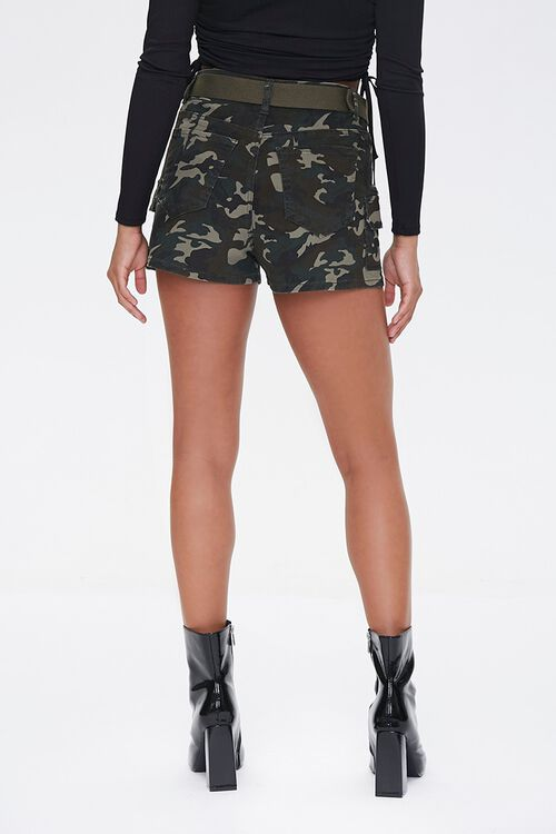 Belted Camo Print Shorts, image 3