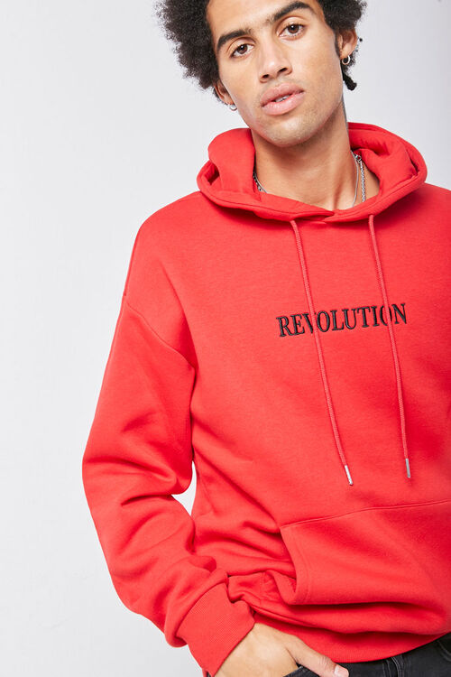 Revolution Embroidered Graphic Hoodie, image 1
