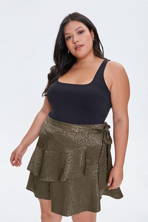 Plus Size Leopard Print Skirt, image 1