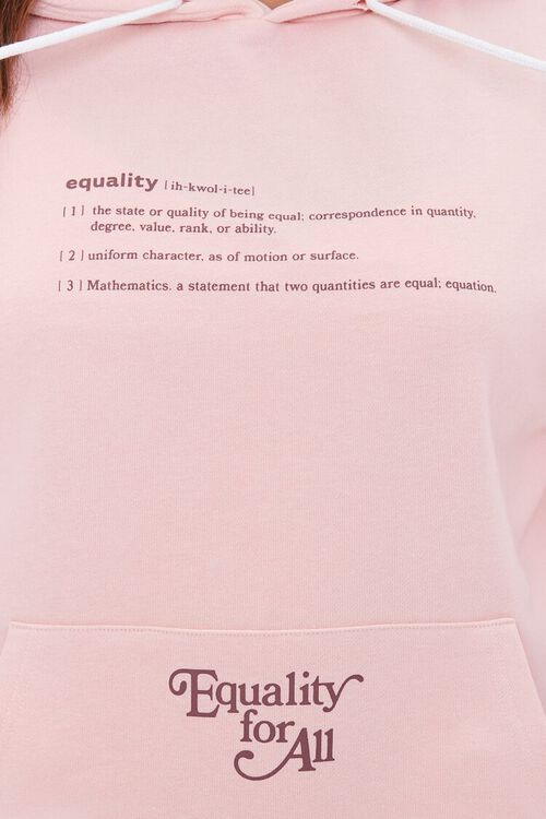 PINK/BROWN Plus Size Equality For All Hoodie, image 5