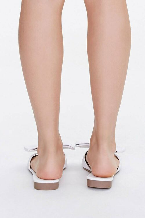 Faux Leather Slip-On Bow Sandals, image 3