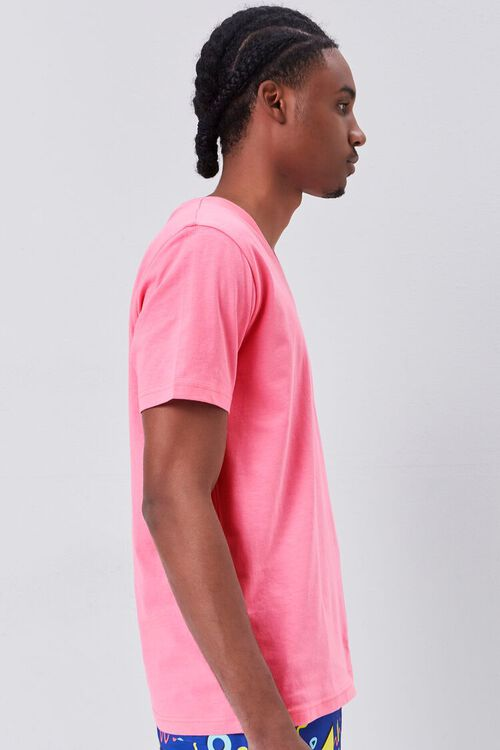DUSTY PINK Basic Organically Grown Cotton V-Neck Tee, image 2