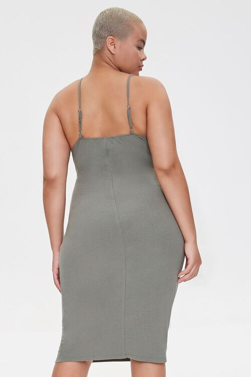 Plus Size Ribbed Bodycon Dress, image 3