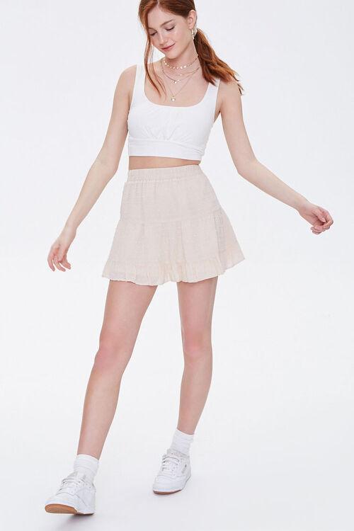 Clip Dot Tiered Mini Skirt, image 5