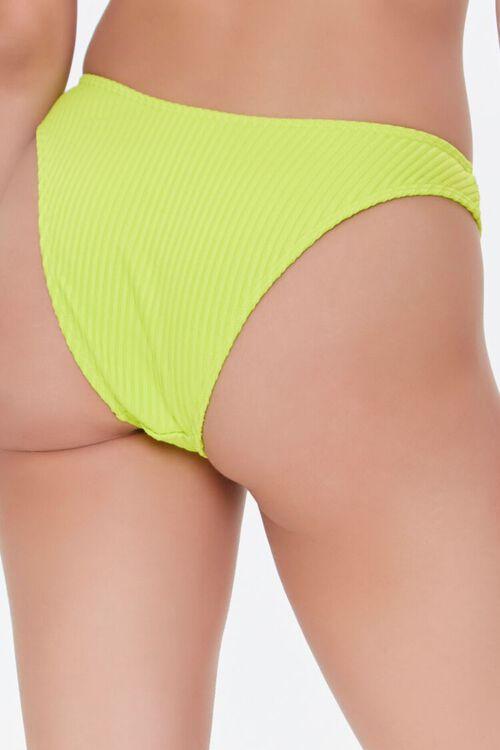 Ribbed High-Leg Bikini Bottoms, image 4