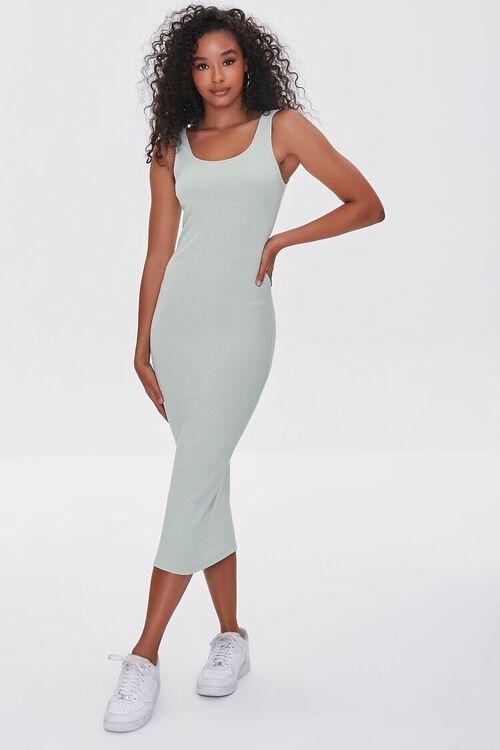 SAGE Ribbed Bodycon Midi Dress, image 4