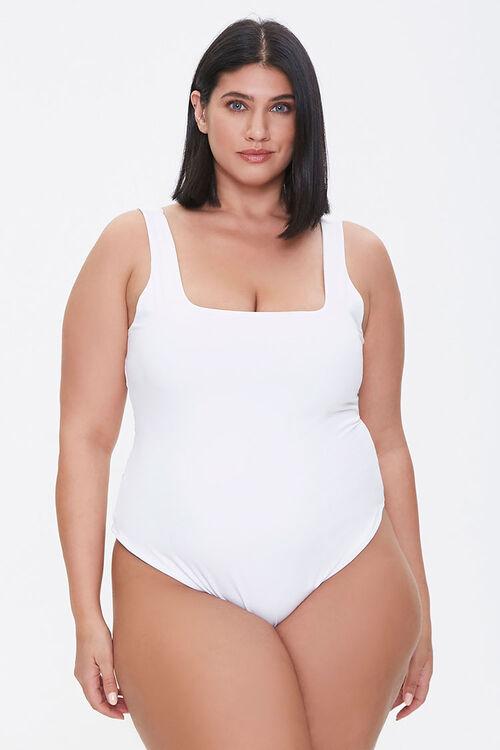 Plus Size Square-Neck Bodysuit, image 5