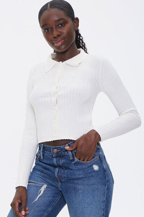 Ribbed Cardigan Sweater, image 1