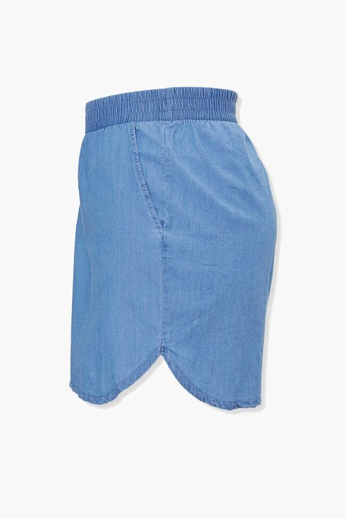 Plus Size Chambray Dolphin Shorts, image 2